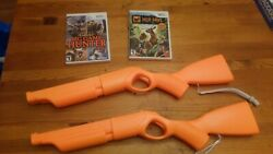 Lot Of 2 Wii Guns And 2 Games Big Game Hunter And Deer Drive