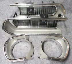 67 Barracuda Grille Set - Supernice Polished 1967 Grill Formula S Plymouth