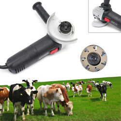 Electric Hoof Trimmer Cattle Hoof Cutter Knife Cow Trimming Plate Disc + Blade