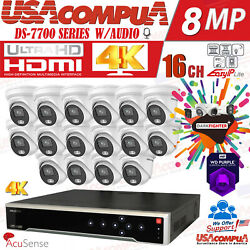 Hikvision 4k Security Camera System 8mp 32ch Ds-2cd2386g2-lu Acusense 8tb