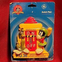 Vintage Marvin The Martian 3-d Light Switch Plate Cover Looney Tunes Decoration