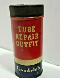 Vintage Goodrich Tube Tire Patch Kit Tin Can Sign Gas Oil Service Station Item
