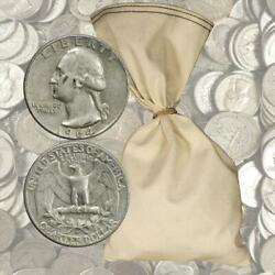 100 Face Value 90 Silver Quarters - 400 Total Coins 1964 And Before