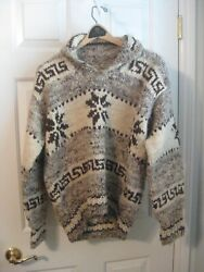 Vintage Cowichan Sweater-original Indian Cowchee-womenand039s Small/medium-canada-guc
