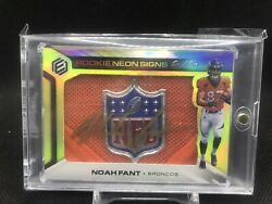 True 1/1 Shield Noah Fant 2019 Panini Elements Rc Neon Signs On Card Auto Rpa Sp