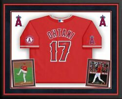 Shohei Ohtani Los Angeles Angels Signed Red Nike Authentic Jersey Deluxe Framed