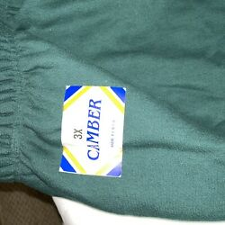 Nwt Camber Cross Knit Heavyweight Sweatpants Mens 3x Green Made In Usa