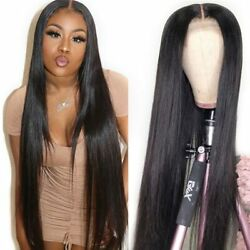 Hd Transparent Lace Front Human Hair Wigs Straight 30 38 40 Inch Brazilian Hair