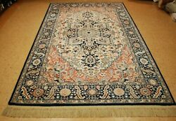 Mint Authentic American Karastan Blue Heriz Pattern 748 Rug Carpet 59and039 X 9and039