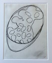 Terry Winters Original Signed Drawing Art