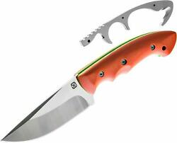 Abiqua 4 Hunting Knife With Concealed Gut Hook And Sheath By Klecker Knives