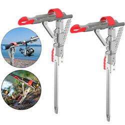 Automatic Spring Fishing Pole Rod Holder Stainless Steel Ground Support Bracket