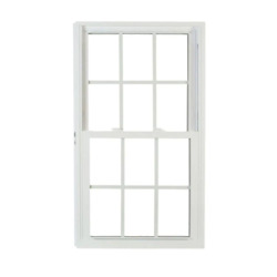 Pro Double Hung White Vinyl Window With Buck Frame And Grilles Replacement Home