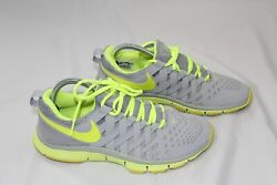 Nike Free Trainers 5.0 Mens 8 Us Size Light Gray And Neon Green