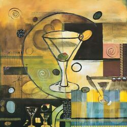 38wx38h A Martini A Day By Scott Hile - Glass Olive Toast Liquor Cheers Canvas