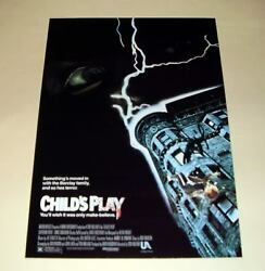 Child's Play Pp Signed Poster 12x8 Brad Dourif