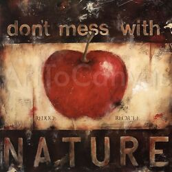 Nature 27x27 And Respect Mother Earth 27x27 Set By Wani Pasion 2pc Canvas