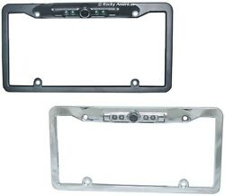 Ccd License Plate Metal Frame Ir 180 Degree Wide Angle Rear View Backup Camera