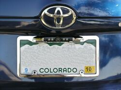 Ccd License Plate Metal Frame 180 Degree Wide Angle Ir Rear View Backup Camera