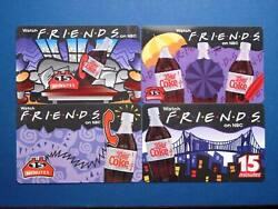 1996 Friends Watch On Nbc With Diet Coke Vintage Coca-cola Ad Phonecard Set Of 4