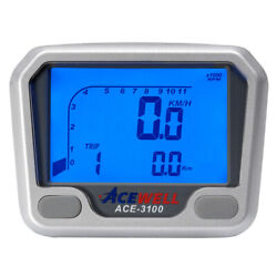 Acewell 3100 Lcd Digital Motorcycle Car Buggy Tractor Speedometer And Tachometer