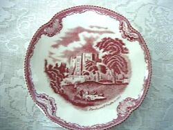 Collectible Red/pink Kenilworth Castle Scenic Plate - Made In England