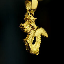24k Solid Gold Dragon Pendant By Estherleejewel