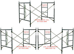 Cbm Scaffold 3 Set Masonry Frame Sets 5and039 X 5and039x 7and039 Snap On Cross Brace