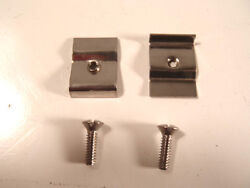 Ford License Plate Light Lens Retainer Clips And Screws 1933-1937