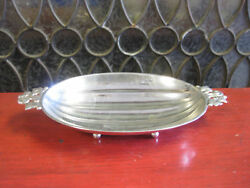 And Co Footed Sterling Ornate Bowl Squash Vine Pattern Candy Dish