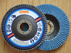 100pcs Flap Disc 4.5x7/8 Zirconium 80 Grit For Stainless Steel And Metal T27