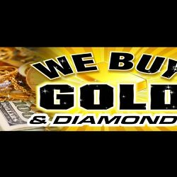 Banner Sign We Buy Gold And Diamonds Cool Colors Jewelry Pawn Shop -8 Foot Long