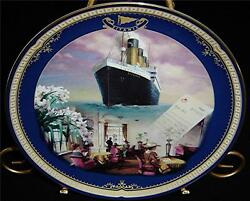 The Reading And Writing Room Titanic Movie Bradford Exchange Ship Plate