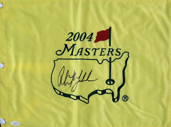 Phil Mickelson Signed 2004 Masters Flag Autographed Jsa