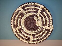 Navajo Coiled Basket With Kokopelli Design By Isabelle Police 10d, New