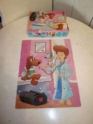 Pound Puppies Jigsaw Puzzle Doctor's Office Vtg Dog Doll 1986 Toy Animal Og