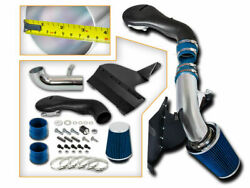 Cold Heat Shield Air Intake Kit + Blue Filter For 96-04 Gmc Sonoma Jimmy 4.3l V6