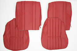 Porsche 356 A T1 Coupe Or Cabriolet Front Wide Back Seat Cover Set Leather