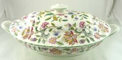Haddon Hall B1451 Oval Serving Bowl With Lid Footed By Minton China
