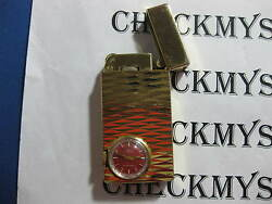 Vintage Jmf Jufrex Lighter Gold Plated With17jewll Watch Attachment Swiss Made