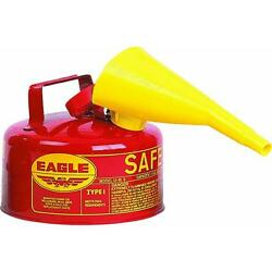 Type 1 Red Metal Steel Saftey Gas Can Container 1 Gallon With Funnel Ui-10-fs