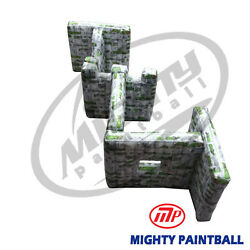 Mighty Paintball Air Bunker Inflatable Bunker - Zigzag Shape Mp-sb-wp06