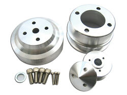 Ford Mustang Serpentine Pulley Polished Aluminum Gt Lx 5.0 Liter 302 1979-1993