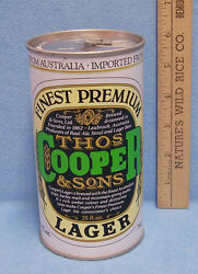 Thos Cooper And Sons Lager Beer Can Imported From Australia Collectable Empty