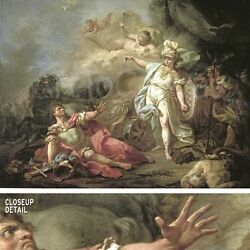 45wx34h Battle Of Minerva Against Mars By Jacques-louis David -fighting Canvas