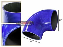 Blue Elbow 2.5 63mm 4-ply Silicone Coupler Hose Turbo Intake Intercooler Infin