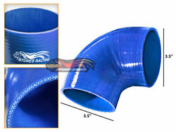 Blue Elbow 3.5 89mm 4-ply Silicone Coupler Hose Turbo Intake Intercooler Gmc