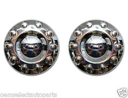 Oem New 2005-2016 Ford F-450, F-550 Front 19.5 Wheel 2wd Chrome Center Cap Pair