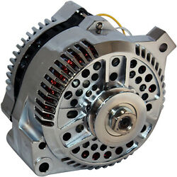 250amp High Output Chrome Alternator Fits 1-wire Ford Mustang 1965-1996 250a