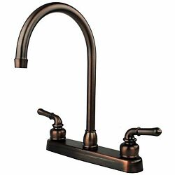 Oil Rubbed Bronze Rv Mobile Motor Home Kitchen Sink Faucet - 14.5 Tall Spout